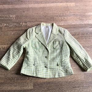 Old Navy houndstooth jacket Chanel style